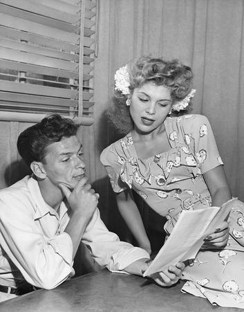 Eileen Barton with Frank Sinatra