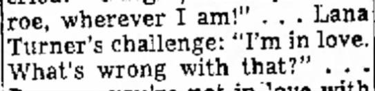 Lana Turner Lawrence Kane