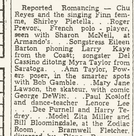 Laredo Times Friday August 30 1946 Page 10 Zodiac Lawrence Kane