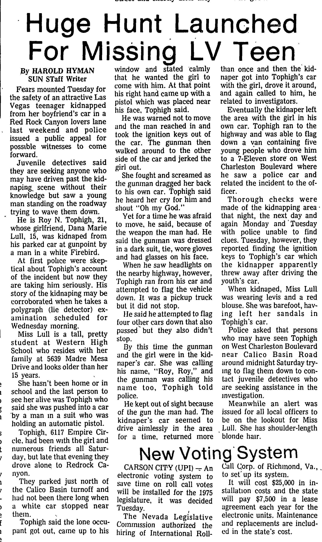 Las Vegas Sun 1974-05-01_3 Dana Lull