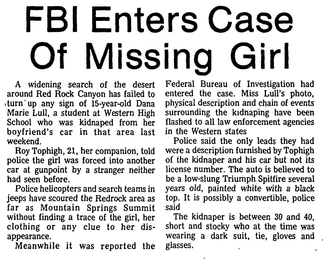 Las Vegas Sun 1974-05-03_1 Dana Lull Larry Kane