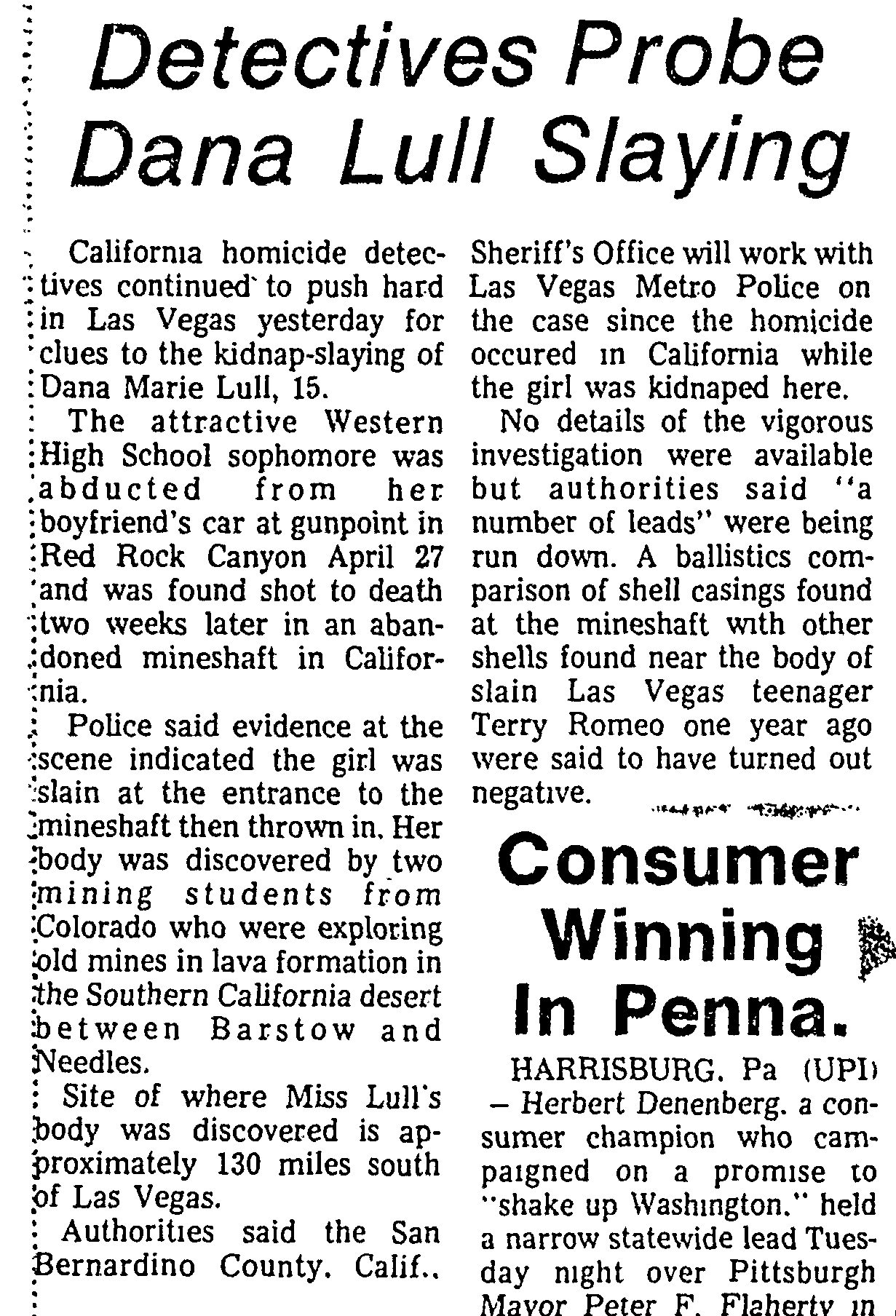 Las Vegas Sun 1974-05-22_14 Dana Lull