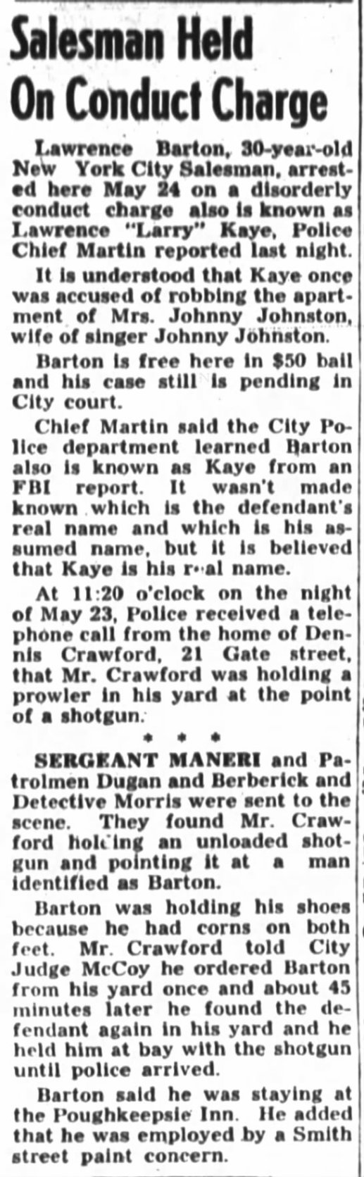 Lawrence Kane Kaye alias Barton