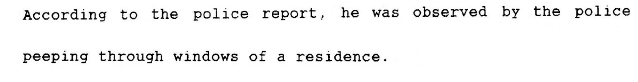 lawrence kane peeping tom arrest 1968