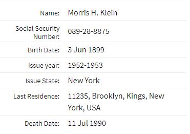 Morris Klein death
