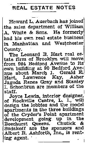 New York Times Feb 12 1954 Lawrence Kane