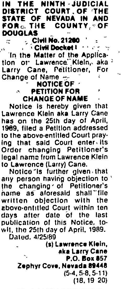 Page 23 of Record Courier,published in Gardnerville, Nevada on Thursday, May 4th, 1989