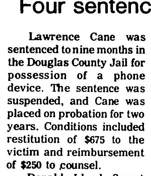Page 6 of Record Courier,published in Gardnerville, Nevada on Thursday, October 18th, 1979