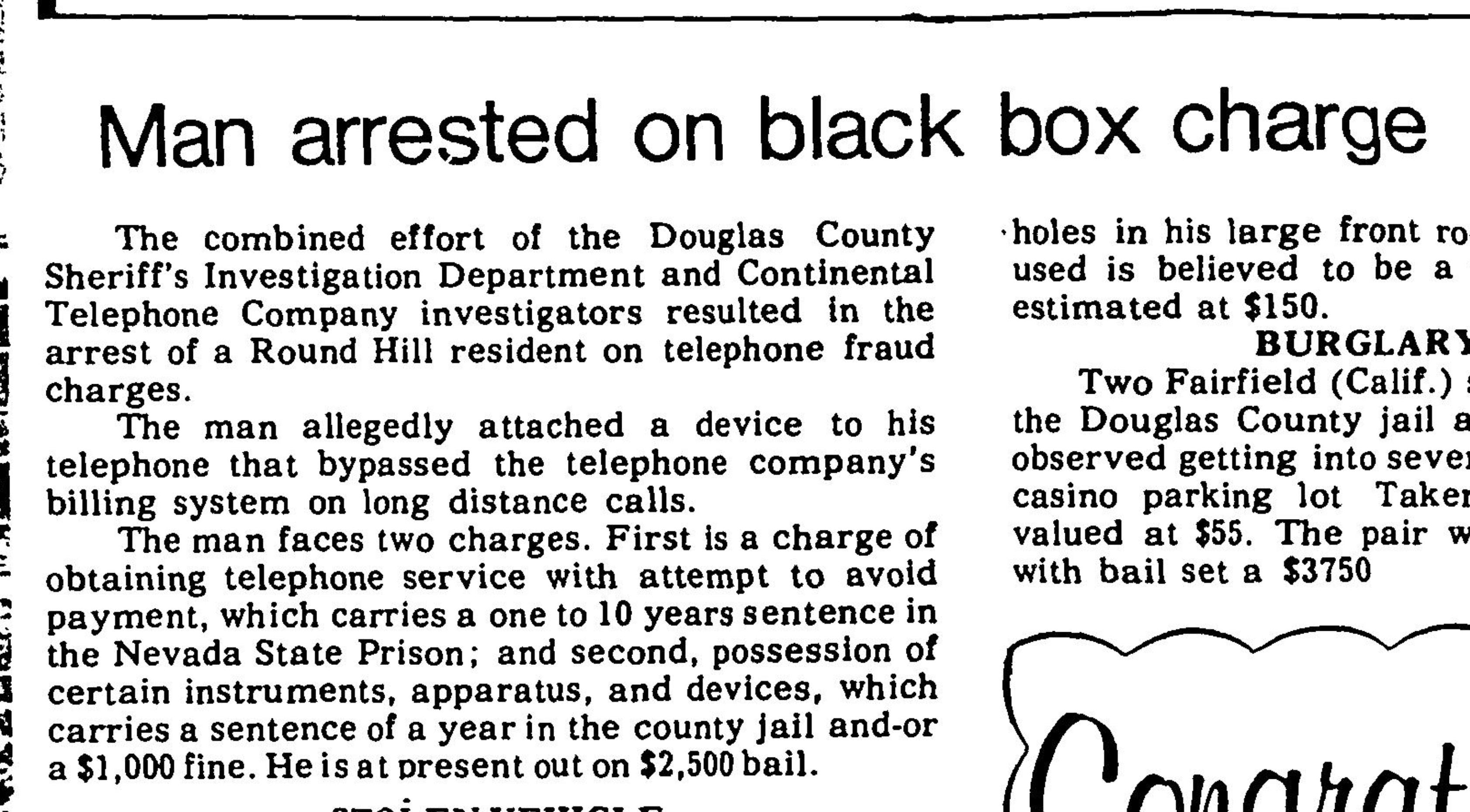 Page 9 of Record Courier,published in Gardnerville, Nevada on Thursday, February 8th, 1979