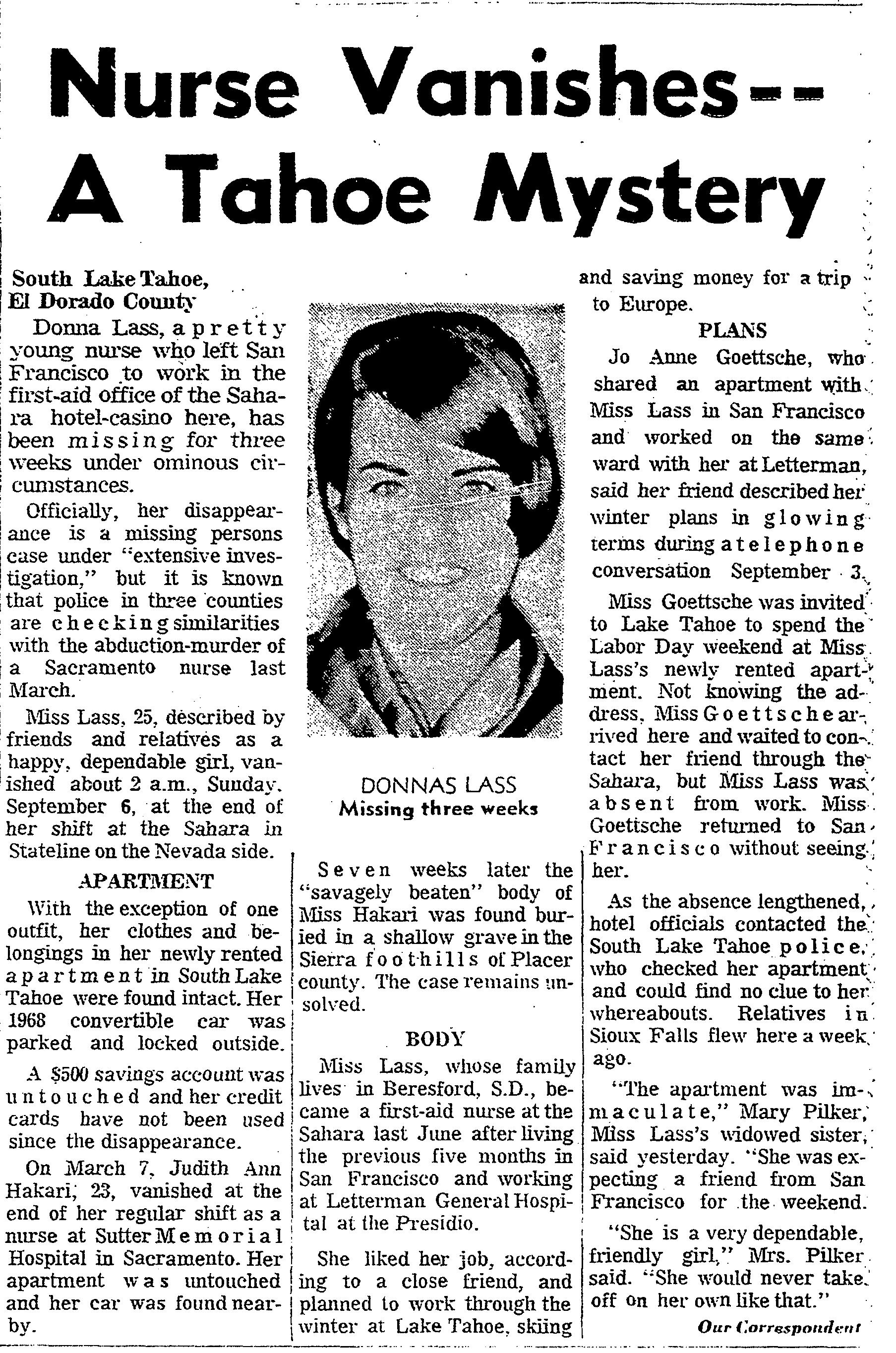 Zodiac Donna Lass South Lake Tahoe San_Francisco_Chronicle_1970-09-26_3